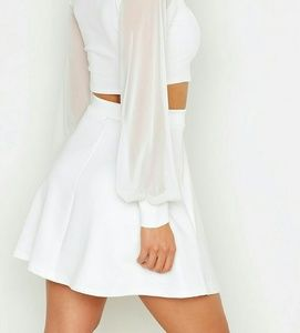 Skirts - NWT Fit And Flare Ivory Skirt US Size 2  UK 6